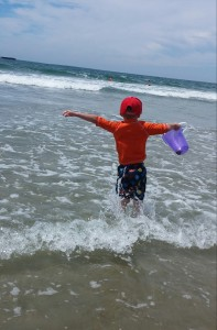 Even trips to the beach can be part of your curriculum. During this trip, my grandsons learned about wind currents, jellyfish, seagulls, and wrote vowel letters in the sand.