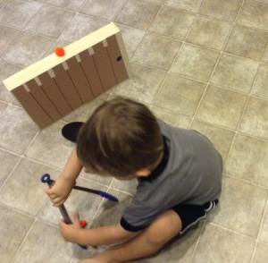 Tahoe loved this activity and it kept him busy while I was cooking dinner.