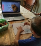 Tahoe used a video to create his drawings.