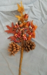 This little autumn piece of foliage was on clearance at the local crafts store.