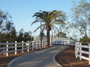bicycle trail in Rancho Cucamonga